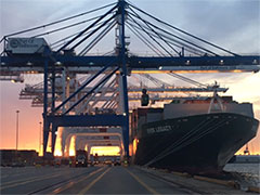 Sunrise at the Port of Baltimore
